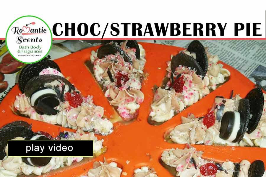 Making Chocolate Strawberry Creme Pie Soap