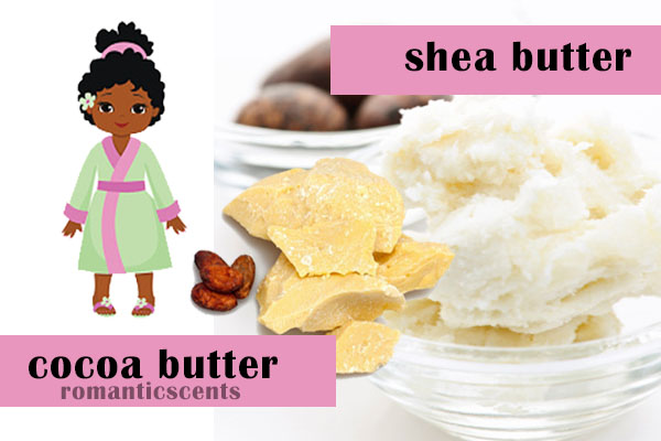 Shea Butter Cocoa Butter Romantic Scents Premium Body Products Rise and Shine