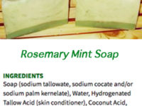 Soap Bar Ingredient List