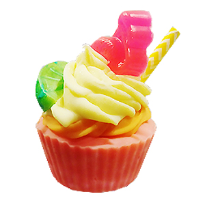 Pink Flamingo Soap Cupcake
