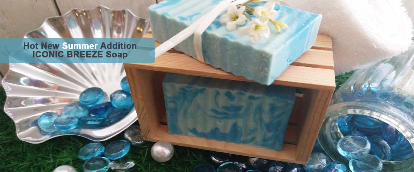 Hot New Summer Addition Iconic Breeze Soap Natural Handmade Soaps