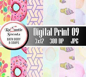 Digital Print for Scrapbooking or Digital Print for Soap Wrapper Labels